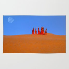 Women Carrying Water in Rajasthan Rug