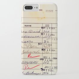 Library Card 23322 iPhone Case