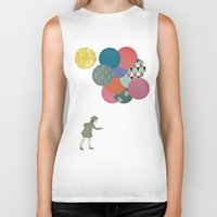 party Biker Tanks featuring Party Girl by Cassia Beck