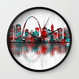 St. Louis Missouri Skyline Wall Clock