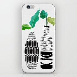 Tribal Vases II with Tropical Greenery iPhone Skin
