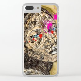 Blood Gold Girl Clear iPhone Case
