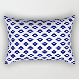 Navy Woven Diamonds Rectangular Pillow