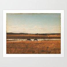 Vintage Horses Art Print