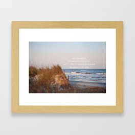 Love one another... Framed Art Print