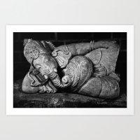 ganesha Art Prints featuring Ganesha by Falko Follert Art-FF77