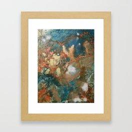 Copper Splash Framed Art Print