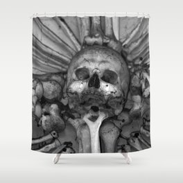 Kostnice Beinhaus Interior Shower Curtain