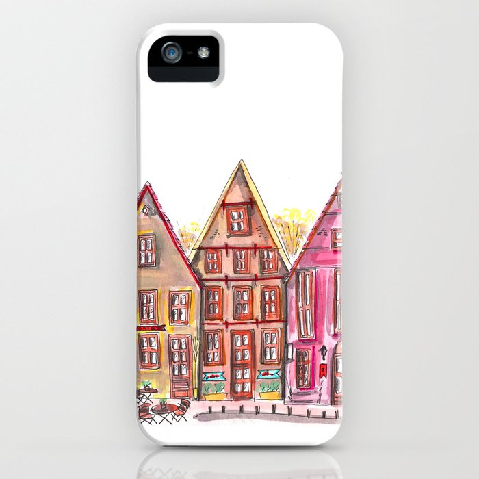 Coloured houses II iPhone Case