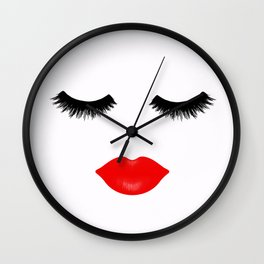 Lips and Lashes Wall Clock