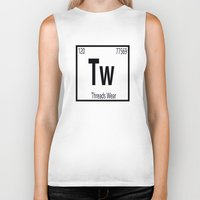 periodic table Biker Tanks featuring Periodic  by Threads Wear