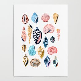 Under the Sea Shells Poster