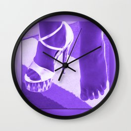 Cinders lost her shoe Wall Clock