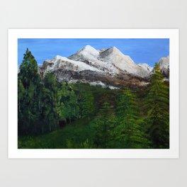 Mountains - Acrylic Art Print