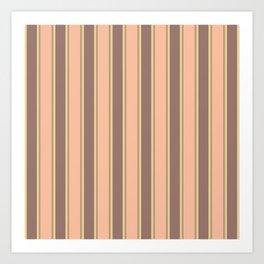 Faded Surprise Stripes Art Print