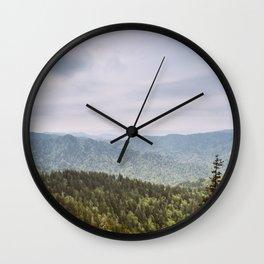 Blue Smoke Mountains Wall Clock