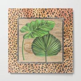 Tropical Palms 1 Metal Print