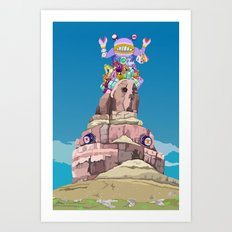 BEN LESSA SATINI Art Print