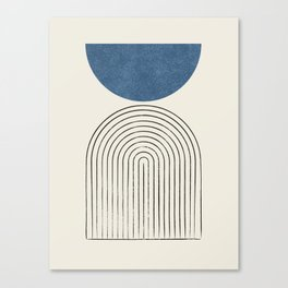 Arch Balance Blue Canvas Print
