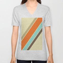 Retro Stripes Unisex V-Neck