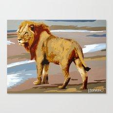 Manders Lion Canvas Print