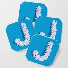 Turquoise Monogrammed J Coaster