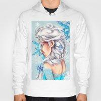 frozen elsa Hoodies featuring Elsa - Frozen by MissMachineArt