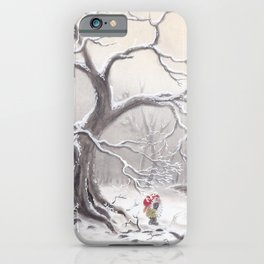 Gnome and fox iPhone Case