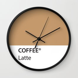 Coffee Latte True Color Artwork for Coffee Lovers Wall Clock