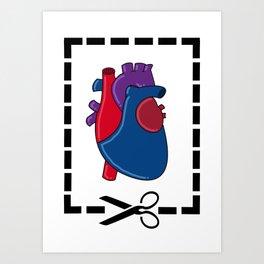Cut My Heart Art Print