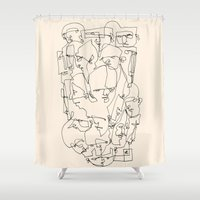 balance Shower Curtains featuring Balance by 5wingerone