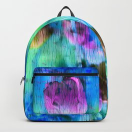 Blue Ocean of Tulips Backpack
