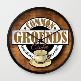 Common Grounds Cafe Logo Wall Clock