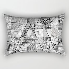 The Letter A Rectangular Pillow