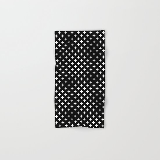 Bath Towel Sets Black And White: Simple Scandinavian Black And White Pattern . Hand & Bath