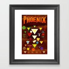 Fires of the Phoenix Framed Art Print