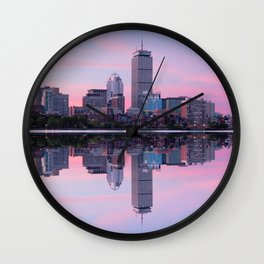 Boston before sunrise Wall Clock