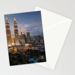 Petronas Towers By Night Stationery Cards