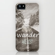 Not all who wander are lost. Mountains iPhone (5, 5s) Slim Case