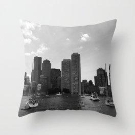 Boston Skyline Throw Pillow