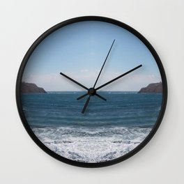crescent beach Wall Clock