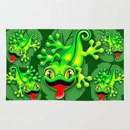 Gecko Lizard Baby Cartoon Rug