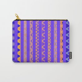 Contemporary African Style Abstract Stripes Carry-All Pouch