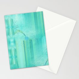 Patternmix turquoise Stationery Cards