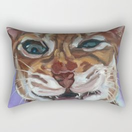 Sassy Cat Portrait Rectangular Pillow