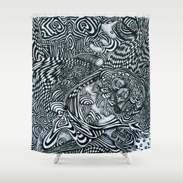 Liquid Skull Shower Curtain