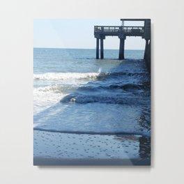 Under the pier at Tybee Island Metal Print
