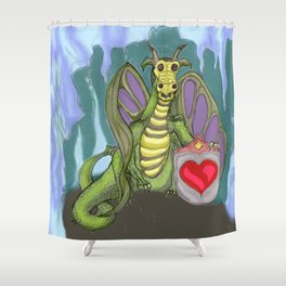 Lovelorn Dragon Shower Curtain
