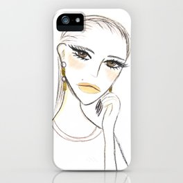 A girl with the foil earrings #2 iPhone Case