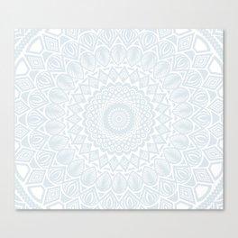 Minimal Minimalistic Light Cool Gray Mandala Canvas Print